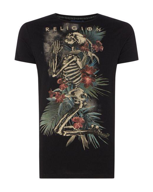 Religion - Black Men's Praying Skull T-shirt for Men - Lyst