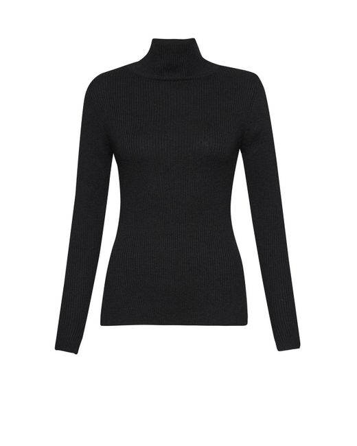 French Connection - Black Nicola Knits High Neck Jumper - Lyst