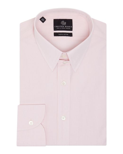 Chester Barrie | Pink Check Tailored Fit Long Sleeve Shirt for Men | Lyst