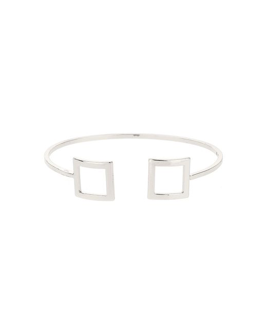 Mikey | White Square Both End Cuff Bracelet | Lyst