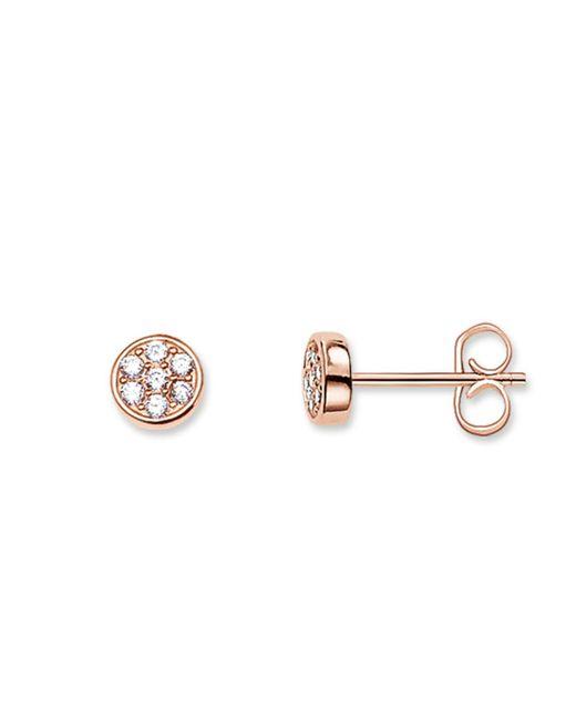 Thomas Sabo - Metallic Sparkling Circles White Pave Ear Studs - Lyst