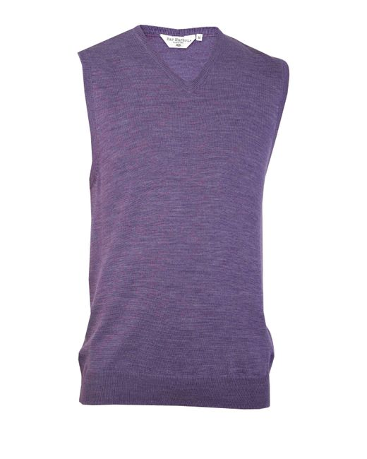 Double Two | Purple Sleeveless V Neck Sweater for Men | Lyst