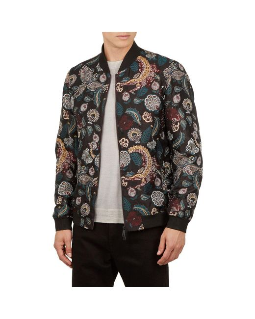 89f328aa9 Ted Baker Queso Tiger Jacquard Bomber Jacket in Red for Men - Save ...