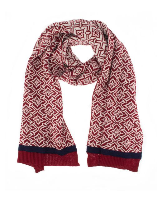 Dents | Red Womens Nordic Knit Scarf | Lyst