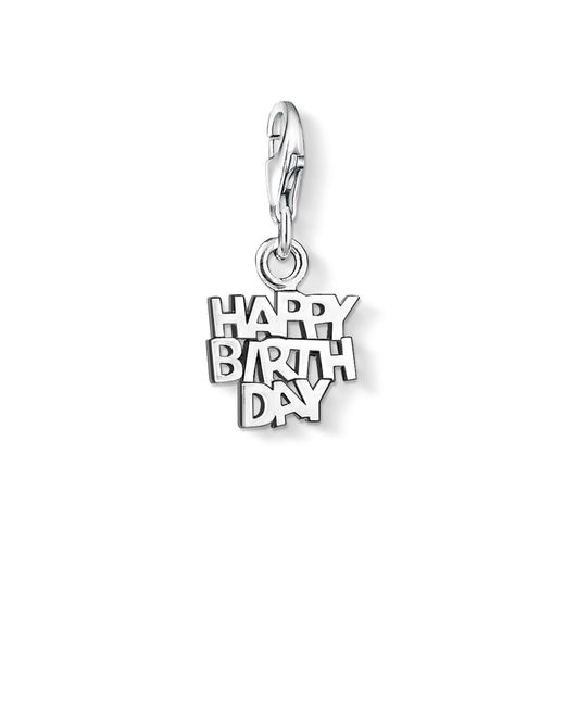 Thomas Sabo - Metallic Charm Club Happy Birthday Pendant - Lyst