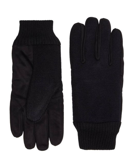 Howick Black Knitted And Suede Glove for men
