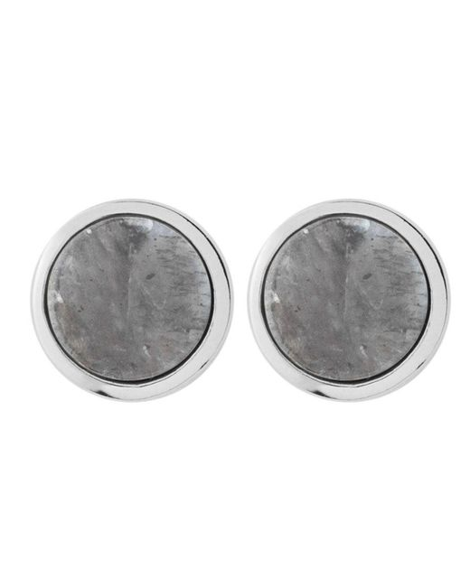 Dyrberg/Kern - Gray Dyrberg/kern Round Stud Earrings - Lyst