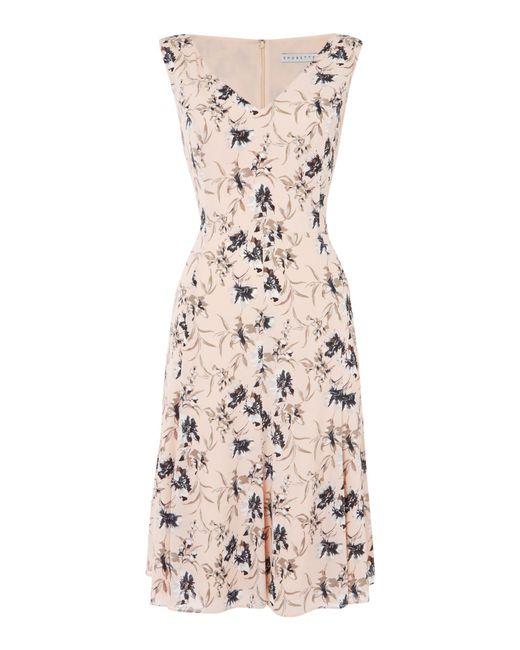 Shubette - Pink Chiffon Fit And Flare Dress - Lyst