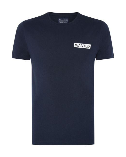 Criminal | Blue Men's Wanted Graphic Tee for Men | Lyst
