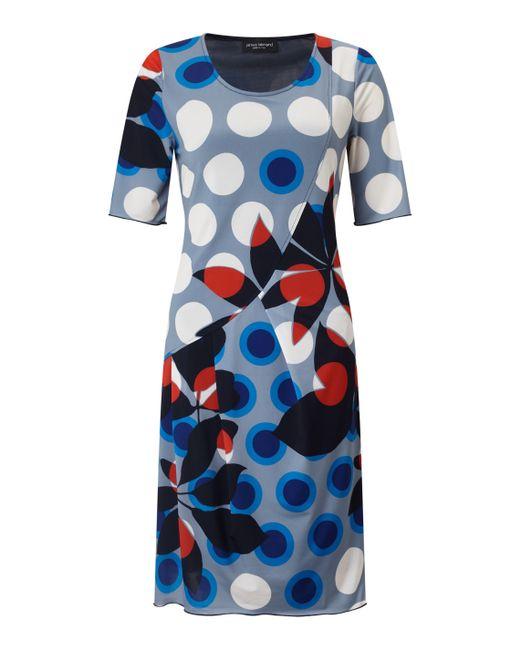 James Lakeland - Blue Printed Cut Pleat Dress - Lyst