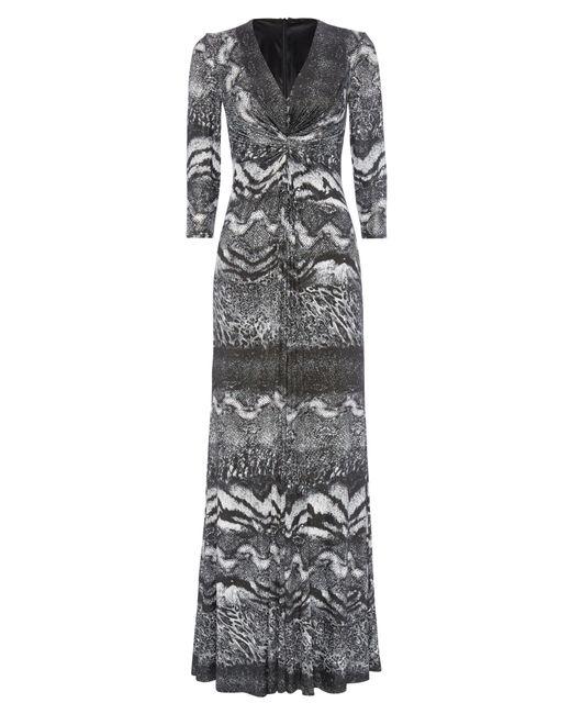 Anoushka G   Gray Eliana Print Jersey Maxi Dress   Lyst