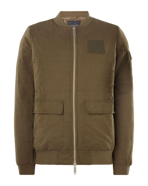 Label Lab - Natural Men's Yannis Padded Bomber for Men - Lyst