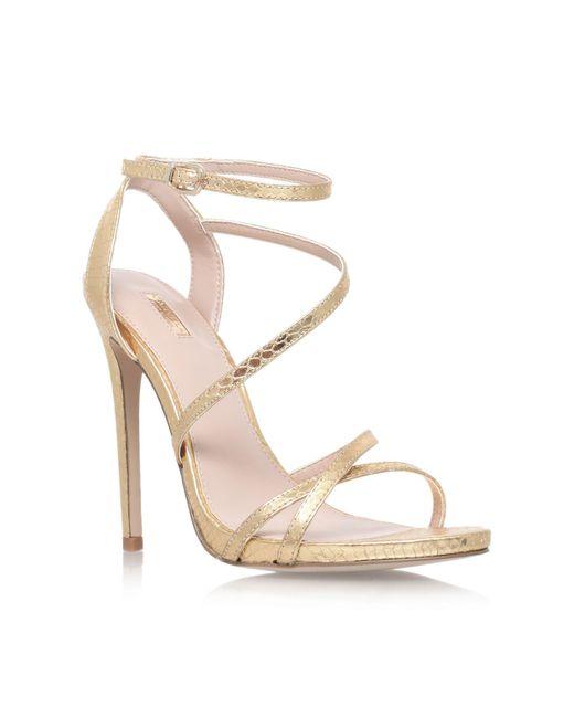 Carvela Kurt Geiger | Metallic Georgia High Heel Strappy Sandals | Lyst