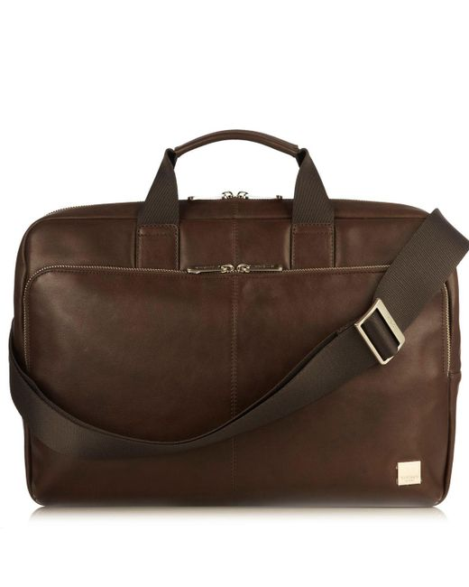 Knomo - Brown Newbury 15 Briefcase Bag for Men - Lyst