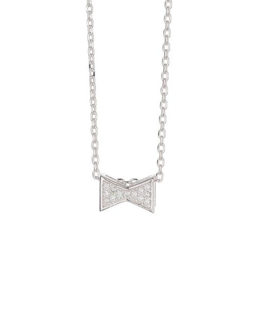 Mikey | Metallic Silver 925 Embed Bow Design Pendant | Lyst