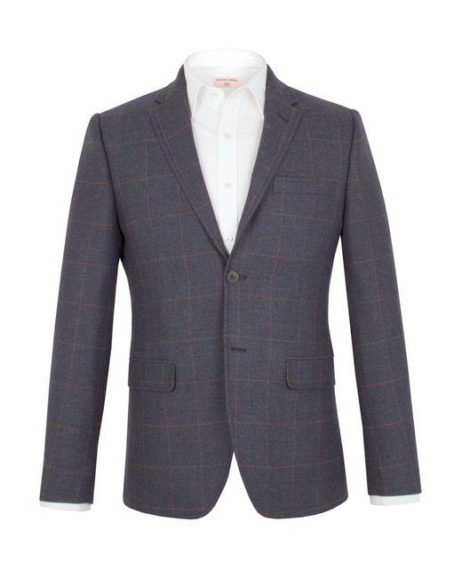 Racing Green | Blue Hughes Herringbone Tailored Jacket for Men | Lyst