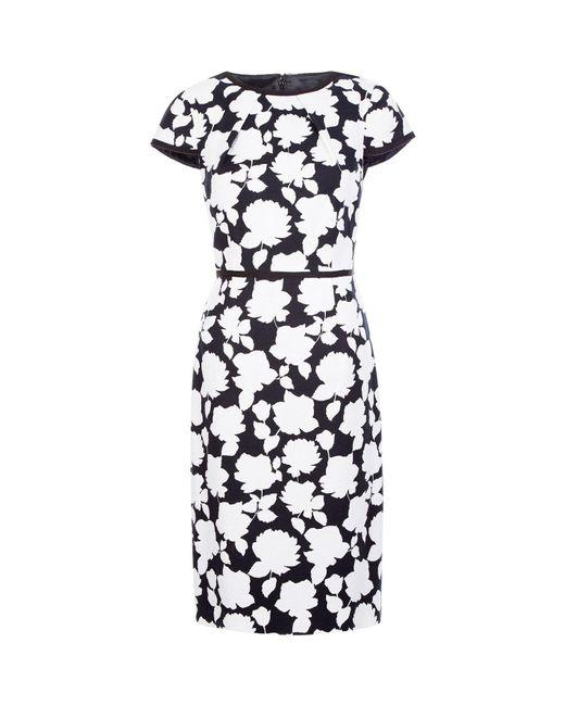 Hobbs Black Floral Print 'sophia' Pencil Dress