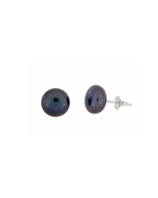 Azendi | Blue Peacock Pearl Stud Earrings - 11mm | Lyst