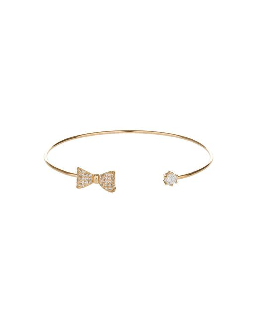 Mikey - Metallic Bow End And Cubic End Cuff - Lyst
