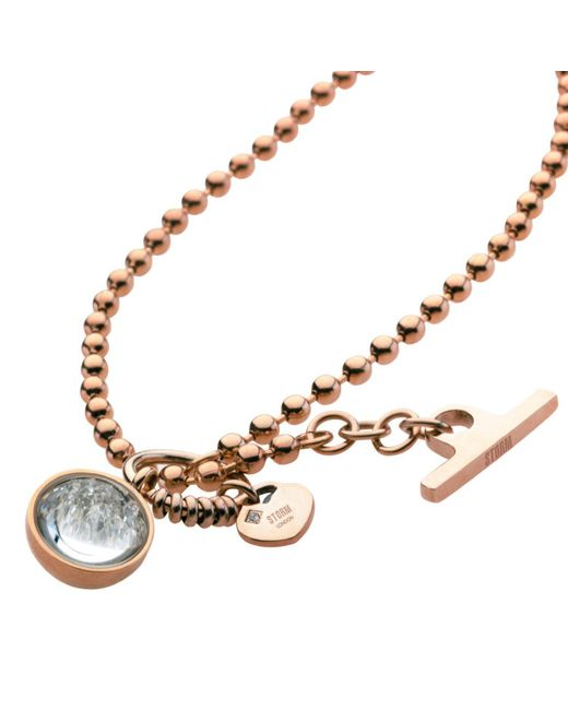 Storm - Pink Crysta Ball Necklace - Lyst