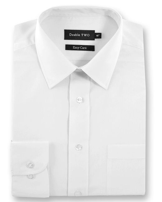 Double Two   White King Size Classic Plain Long-sleeve Shirt for Men   Lyst
