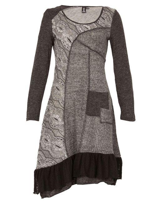 Izabel London   Gray Printed Knit Dress   Lyst