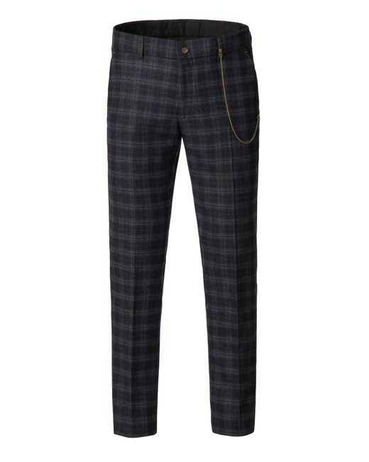 Gibson - Men's Blue And Orange Tartan Trousers for Men - Lyst