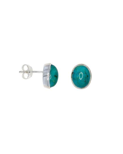 Azendi - Blue Turquoise Stud Earrings - Lyst