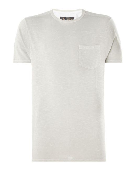 Label Lab - White Men's Royal Slub Crew Neck T-shirt for Men - Lyst