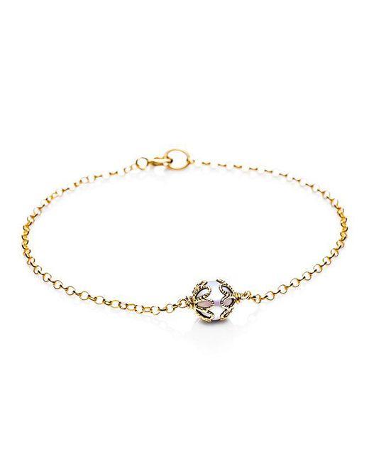 Jersey Pearl   Metallic Emma Kate Gold Pearl Filigree Bracelet   Lyst