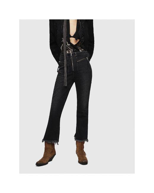 DIESEL Black D Earlie Mid Rise Bootcut Jeans