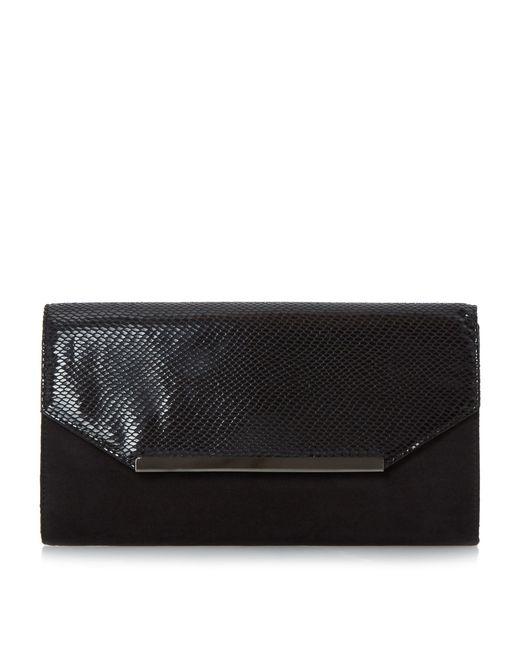 Dune | Black Beebi Material Mix Clutch Bag | Lyst