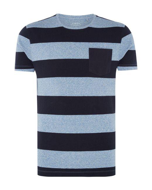 Criminal | Blue Men's Dixon Colour Block Tshirt for Men | Lyst