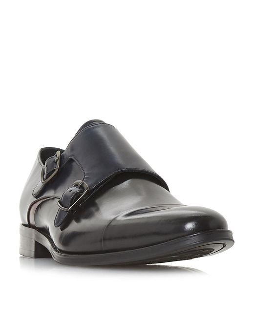 Dune Black Parakeet Monk Shoes for men