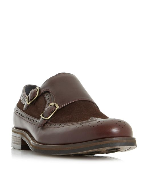 Bertie - Brown Preach Combo Double Monk Shoe for Men - Lyst