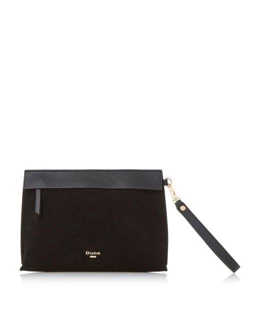 Dune | Black Eharriet Front Zip Clutch Bag | Lyst