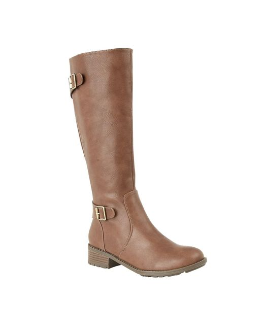 Lotus Brown Beal Knee High Boots