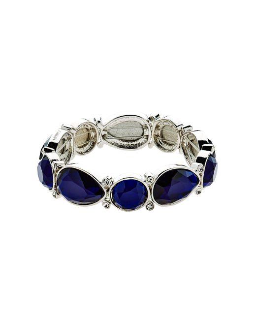 Monet | Metallic Silver Montana Shapes Stretch Bracelet | Lyst