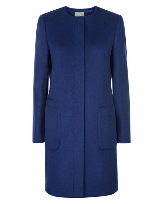 Buy low price, high quality blue collarless coat with worldwide shipping on litastmaterlo.gq