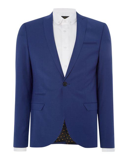 Label Lab | Blue Rutherford Peak Lapel Skinny Suit Jacket for Men | Lyst