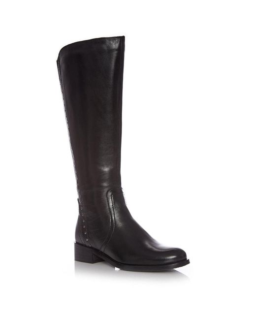 Moda In Pelle Black Sarira Low Casual Long Boots