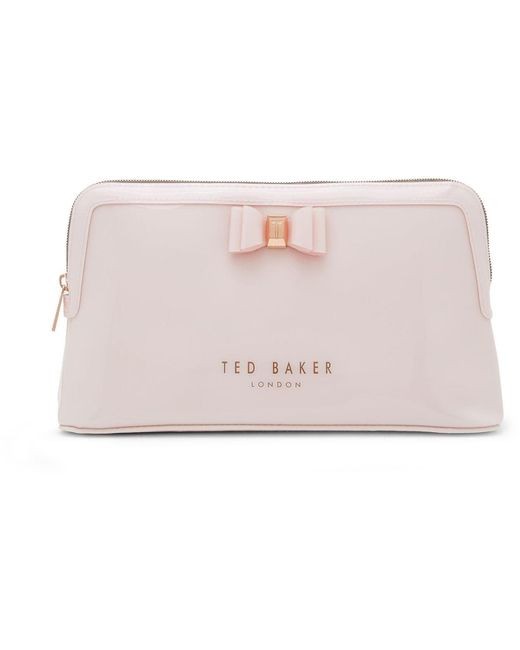 Ted Baker Pink Large Bow Wash Bag