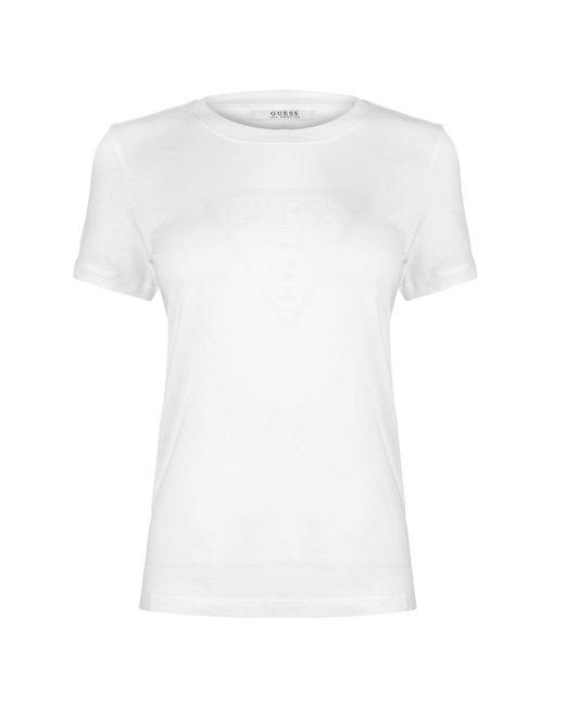 Guess White Glow Logo T Shirt