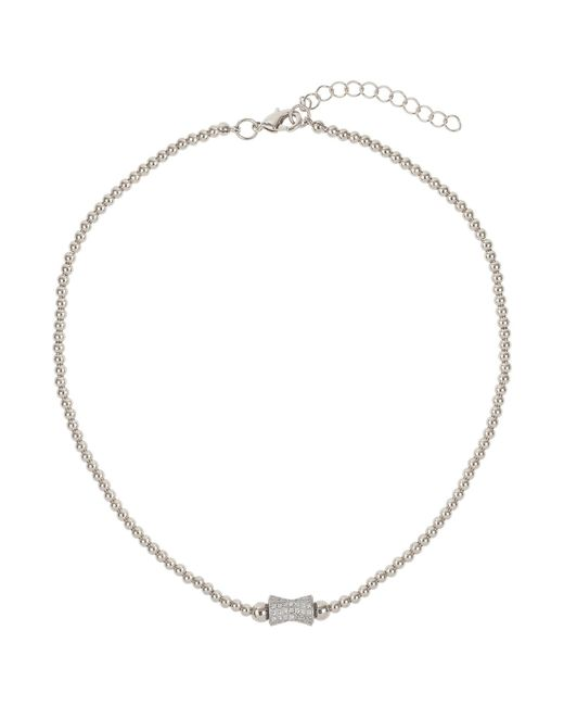 Mikey - Metallic Crystal Dumbell Bead Necklace - Lyst