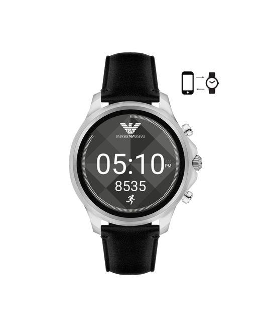 Emporio Armani - Black Art5003 Men`s Alberto Smartwatch for Men - Lyst