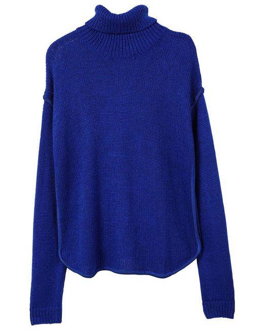 Mango   Blue Turtleneck Sweater   Lyst