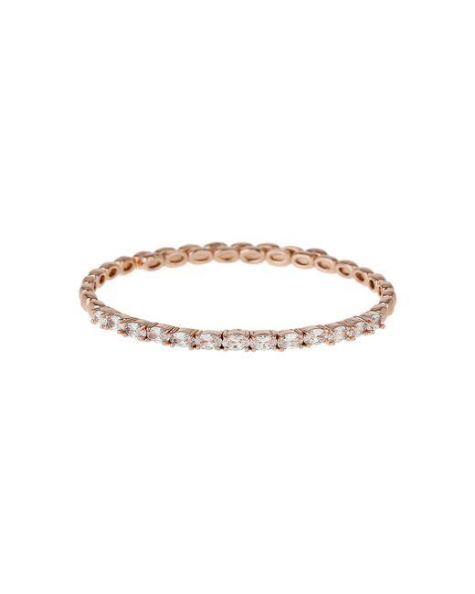 Mikey - Metallic Round Cubic Stone Spring Cuff Bracelet - Lyst