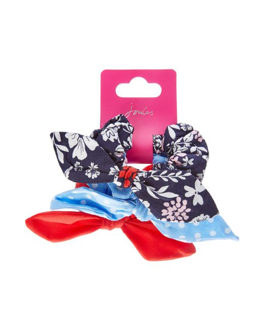 Joules | Blue Girls Ditsy 3 Pack Scrunchie | Lyst