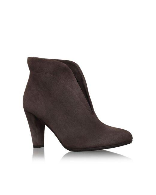 Carvela Kurt Geiger | Brown Rida Suede Ankle Boots | Lyst