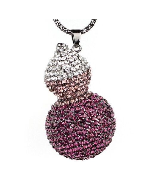 Mikey Purple Twin Crystal Pendant